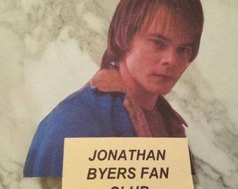 Jonathan Byers Fanclub Stranger Things Sticker