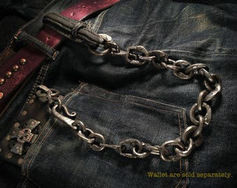 """Medieval wallet chain """"Forged and riveted Brass """""""