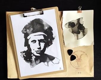 Keith Richards Inkling print