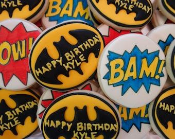 Batman Themed Cookies