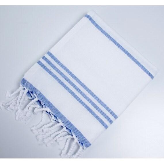 Buy Turkish Hand Towel: Blue An White Striped Turkish Hand Towel Mod Allure
