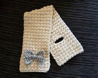 Crochet keyhole scarf - Maya