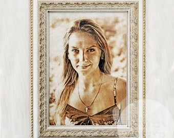 Laser engraving paintings and portraits by your photo