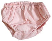 Blush Pink Baby Bloomers, Grey diaper cover, baby diaper cover