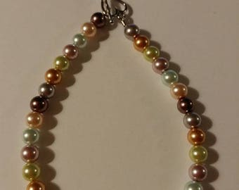 Multi colored pearl beaded Bracelets