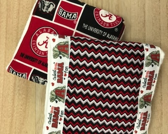 FREE SHIPPING, Alabama burp cloths,Cutest Lil' Bama Fan Burp Cloths, baby burp cloths, collegiate baby gifts, burpees, burp rags