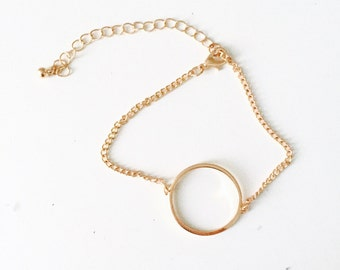 Chain bracelet big circle