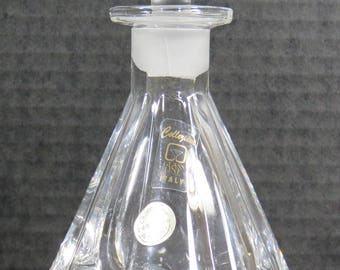 Lead Crystal Collezione Perfume Bottle with Ground Stopper Italy Labels Intact