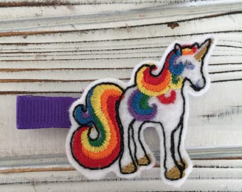 Unicorn Hair Clip, unicorn hair clips, rainbow hair clips, rainbow clips, unicorn clips, sprite clips, rainbow brite clips, rainbow set, RTS