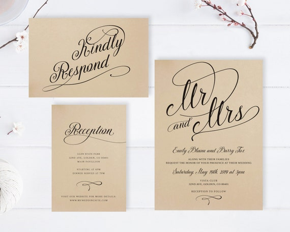 Cheap Cardstock For Wedding Invitations : Mr and Mrs wedding invitations Cheap wedding invitation