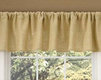 Burlap valance, valances, drapes, burlap window treatment, curtain panel, Burlap curtain, curtains, drapery, rustic decor, home decor