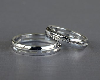 Wedding Rings, Wedding Bands His and Hers, Wedding Bands,  His and Hers Ring, His and Her Promise Ring