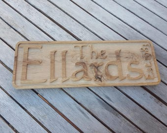 Personalised Wedding Name Sign (Free P&P)