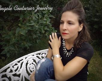 Necklace bracelet statement jewelry cross bracelet pearl