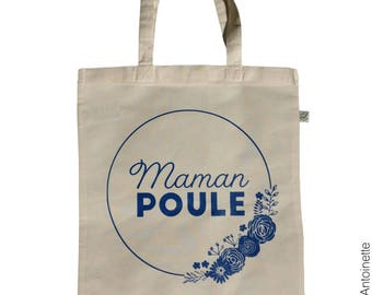 Tote Bag MOM pool - organic cotton shopping bag - mother's day-MOM gift