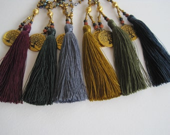 Rich Fall colours tassle necklaces