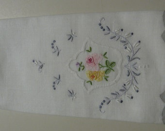 Vintage Embroidered Tea Towel