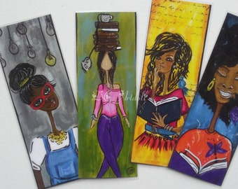 Set of Four Bookmarks/Big Ideas Series Bookmark/African American Bookmark