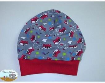 Beanie, beret, KU 51-54 pirates foxes grey red