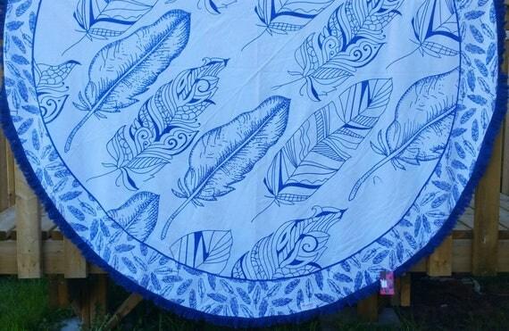 Mandala roundie, beach towel, circle mandala towel, picnic round towel, bohemian roundie, xmas gift for her, roundie wall hanging