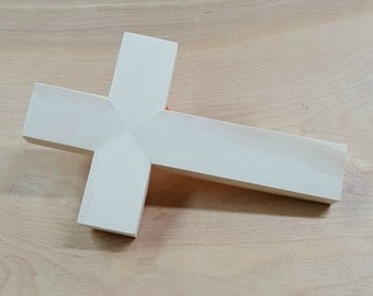 Unfinished pine wood cross, handmade, paintable, stainable, SMALL
