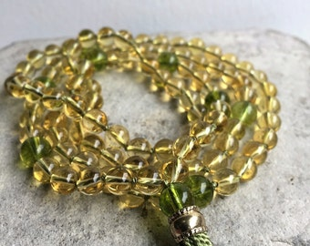 Citrine & Peridot Mala Prayer Beads