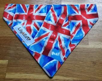 British Flag Slide on Pet Bandana