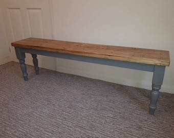 Farmhouse Style Table Benches Made To Order Choice Your Colour