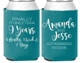 Funny Wedding Can Cooler Favors Reception Coolers Finally Got Married Engaged