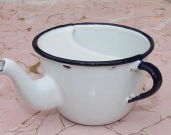 Vintage Enamelware Cup with Spout Creamer