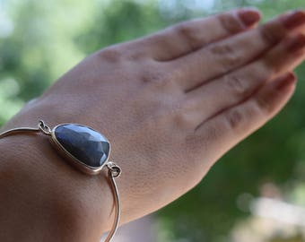 Labradorite stone bangle