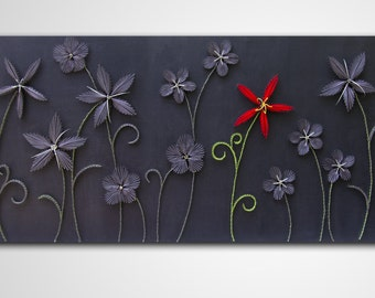 "String art flowers | Wall hanging | Strings and nails art | ""Exception"" 