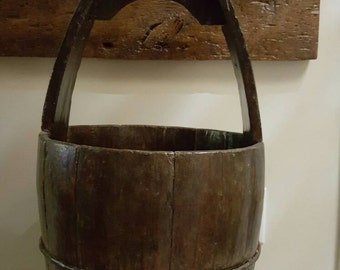 Antique Wooden Well Bucket.  Founded it on local antique store.