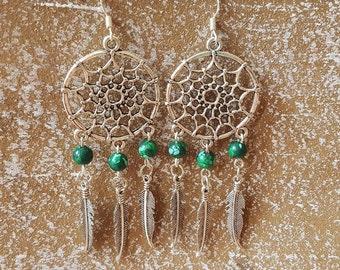 Earrings Malachite 925 Silver earrings MalachitOhrringe chandelier