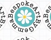 Custom daisy stickers for Bespoke Art by Gemma