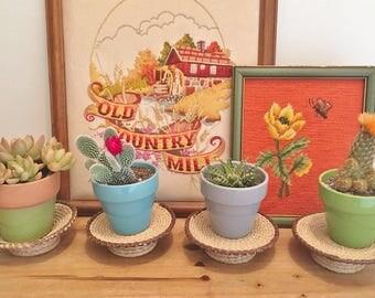 Woven Plant Stands - Woven Home Decor - Bohemian Home Decor - Planters