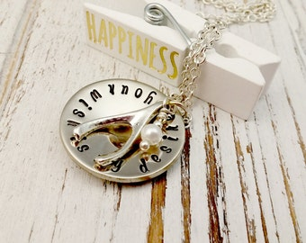 Hand Stamped, Your Wish is my Desire, Wishbone Necklace, Gifts for Her