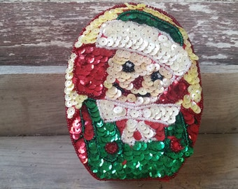 Raggedy Andy sequin box, Raggedy Ann and Andy collectible, vintage Raggedy Andy ornament