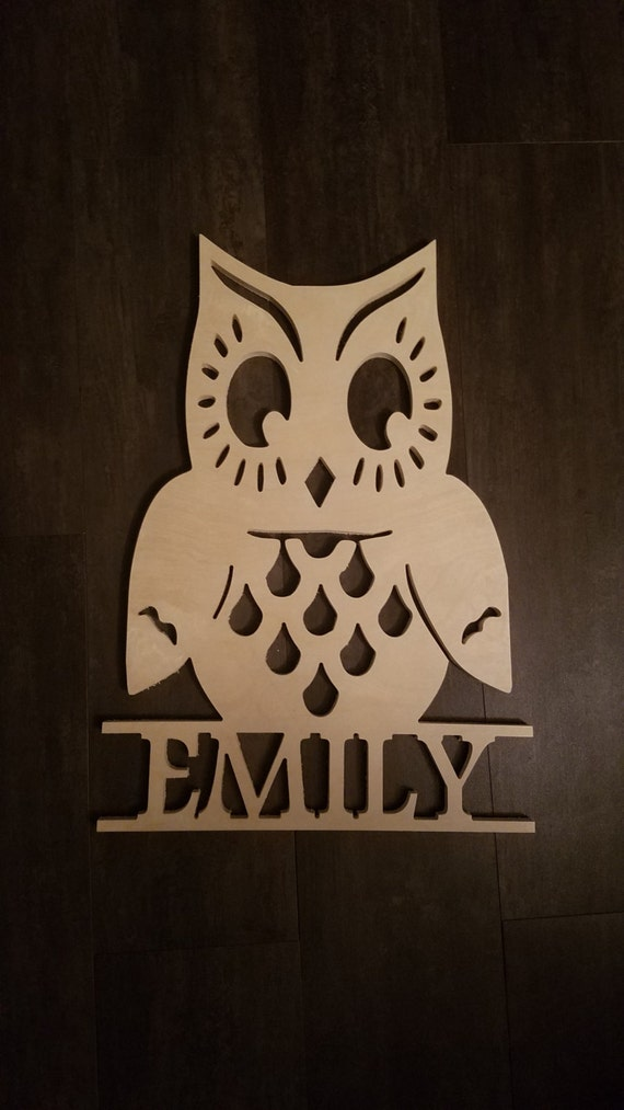 Etsy Personalized Wall Decor : Items similar to wood personalized wall decor owl baseball