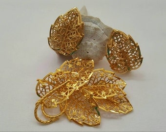 JUDY LEE Filigree Style Leaf Set