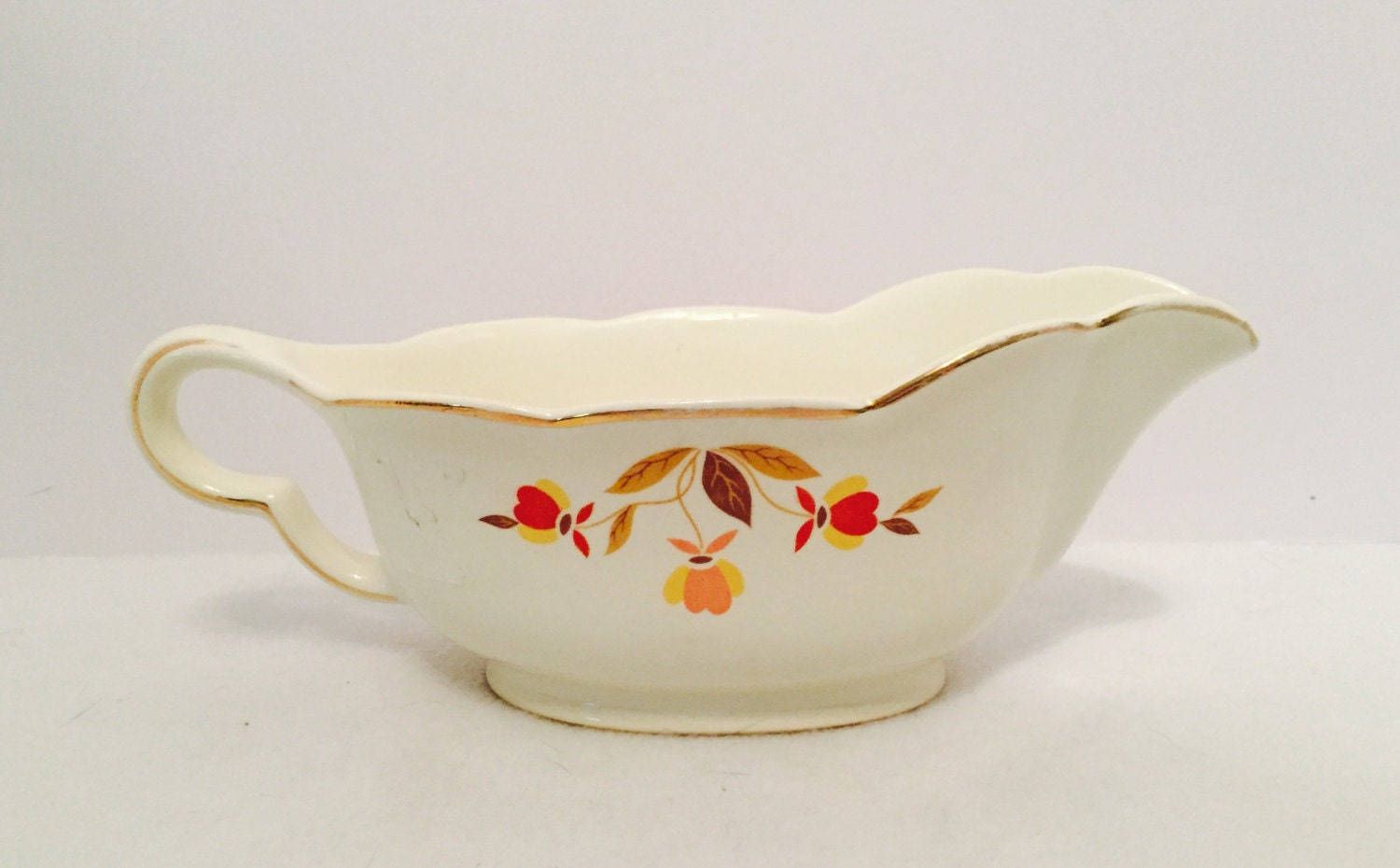 Hall S Autumn Leaf Gravy Boat Amp Underplate