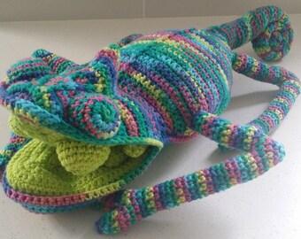 Hand Crocheted Karl the Chameleon