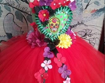 Princess Day of the Dead Candy Skull