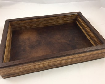 Men's Valet Box, Wood  Valet Box, Dice Tray