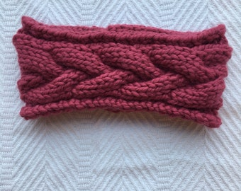 Ready To Ship! Braided Cable Headband // THE ERICA // Raspberry