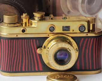 Leica,Replica. RF, Soviet  Camera, (Fed copy).gold-red