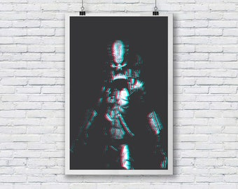 Predator 3d A3  fine art print ideal for framing