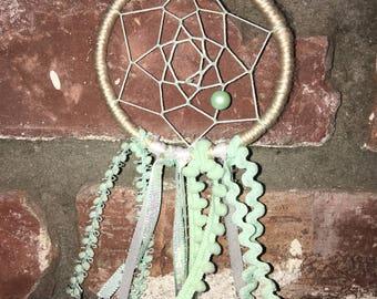 Mini mint green Dreamcatcher