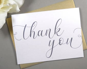 SHIMMER THANK YOU Card, Wedding Thank You Cards, Wedding Thank You Card, Thank You Card, Thank You Card Set, Thank You Cards