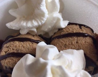 chocolate cookie dough, edible cookie dough, edible dough, jar desserts, desserts in a jar, food gifts, edible gifts, edible food
